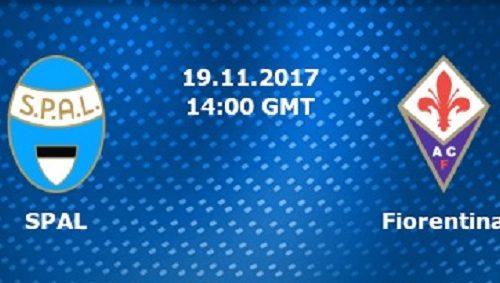 Spal-Fiorentina , domenica 19 novembre