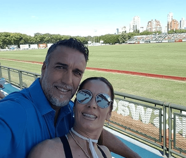 Gabriel batistuta e la moglie
