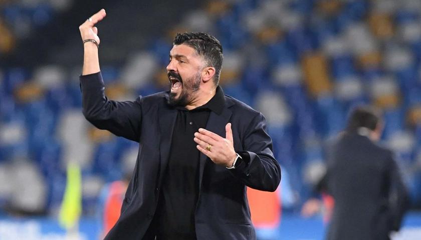 Il Ct del Napoli Gennaro Gattuso